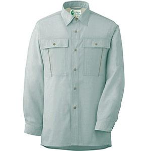 ペア長袖さらりシャツ RCS2606 上 グリーン