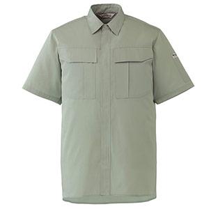 エコ帯電防止 男女ペア半袖シャツ RCS596 上 アースグリーン