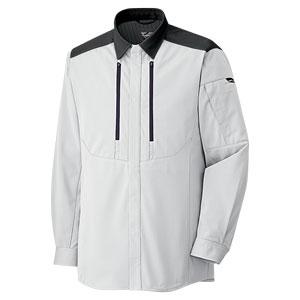 ベルデクセルフレックス トリコットユニフォーム 男女共用 長袖シャツ VES2711上 シルバーグレー