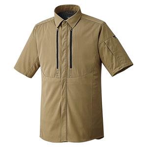 ベルデクセルフレックス フルハーネス対応 男女共用 半袖シャツ VES730上 サンドベージュ