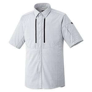 ベルデクセルフレックス フルハーネス対応 男女共用 半袖シャツ VES731上 シルバーグレー