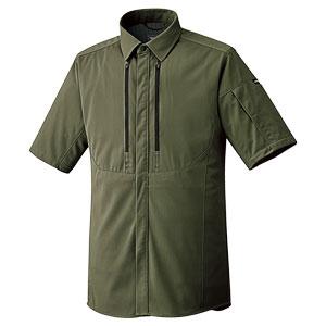 ベルデクセルフレックス フルハーネス対応 男女共用 半袖シャツ VES736上 オリーブグリーン