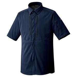ベルデクセルフレックス フルハーネス対応 男女共用 半袖シャツ VES737上 ネイビー
