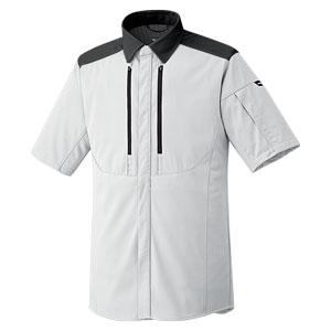 ベルデクセルフレックス トリコットユニフォーム 男女共用 半袖シャツ VES711上 シルバーグレー