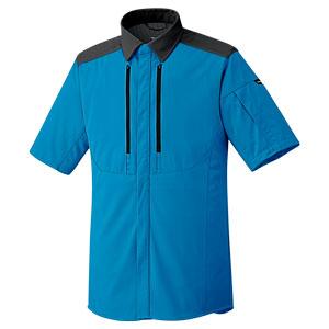ベルデクセルフレックス トリコットユニフォーム 男女共用 半袖シャツ VES713上 ターコイズ