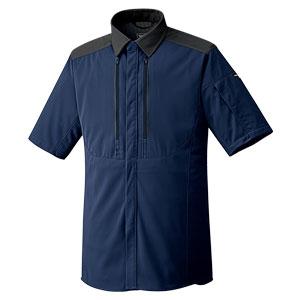 ベルデクセルフレックス トリコットユニフォーム 男女共用 半袖シャツ VES717上 ネイビー