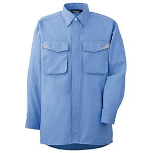 ペア長袖シャツ GS2493 上 ブルー
