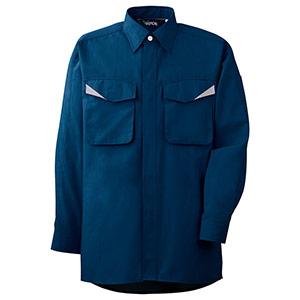 ペア長袖シャツ GS2497 上 ネイビー