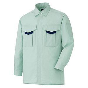 男女共用 長袖シャツ GS2686 上 グリーン (SSS〜5L)