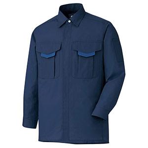 男女共用 長袖シャツ GS2687 上 ネイビー