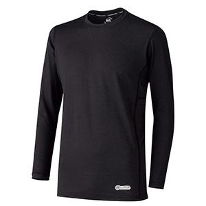 ベルデクセル 男女共用 長袖クールコアTシャツ VEC219上 ブラック