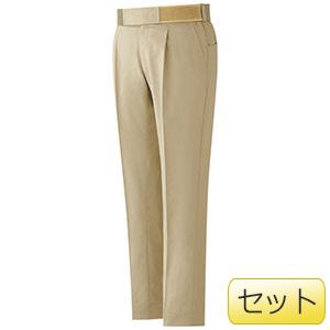 男性用楽腰パンツセット VES502下 カーキ (S〜5L)