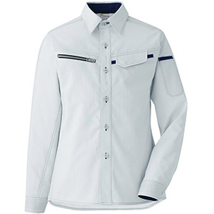 ベルデクセル フレックス 交織ストレッチ 女子シャツ VELS2531 上 シルバーグレー