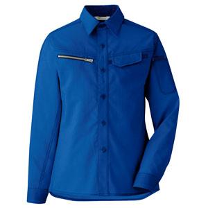 ベルデクセルフレックス 交織ストレッチ 女子シャツ VELS2533上 ロイヤルブルー