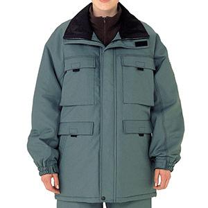 リサイクル 帯電防止防寒コート SE1056 上 グリーン
