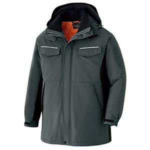 ベルデクセルフレックス 静電防水防寒コート VE1041 上 チャコールグレー×ブラック