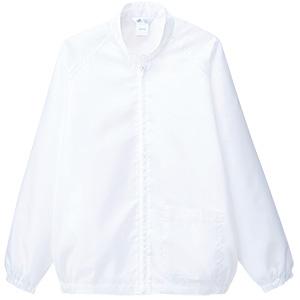 クリーンウェア 男女共用 上衣 S3205W 上 ホワイト
