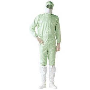 クリーンウェア 一般型クリーンスーツ S1313G グリーン