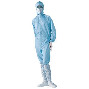 クリーンウェア 一般型クリーンスーツ S1060B ブルー