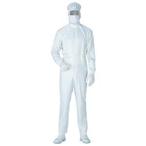 クリーンウェア 超静電クリーンスーツ C1011W ホワイト