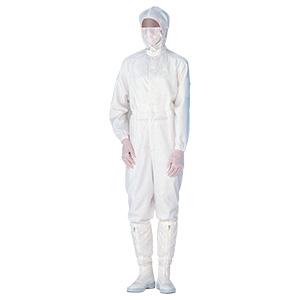 クリーンウェア 超静電クリーンスーツ C1515W ホワイト