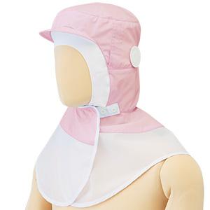フード (ツバ付) マスク掛け 丸型 SH27P ピンク
