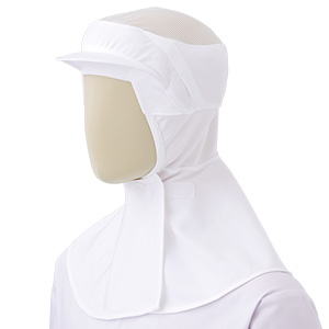 フード (ツバ付・マスク掛け無しタイプ) SH202W ホワイト