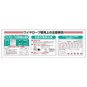 標識項目セット 331−13A ワイヤーロープ