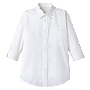 ユニセックス 七分袖シャツ FB561U−15 ホワイト