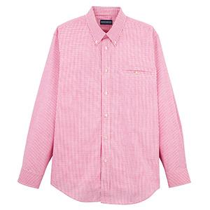 ユニセックス 長袖チェックシャツ FB492U−3 レッド
