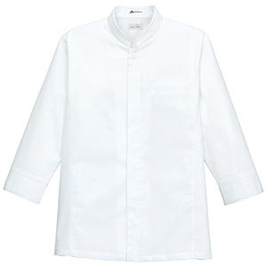 メンズシングルスタンド コック シャツ FB5011M−15 ホワイト