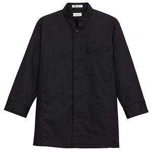 メンズシングルスタンド コック シャツ FB5011M−16 ブラック