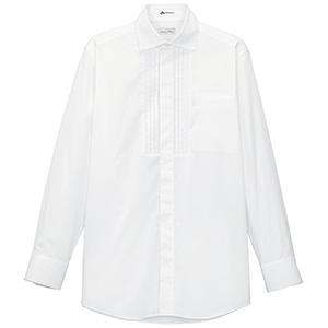 メンズ ピンタックワイドカラー長袖シャツ FB5002M−15 ホワイト