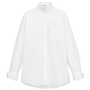 メンズ 2Wayスタンドカラー長袖シャツ FB5003M−15 ホワイト