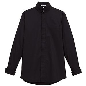 メンズ 2Wayスタンドカラー長袖シャツ FB5003M−16 ブラック