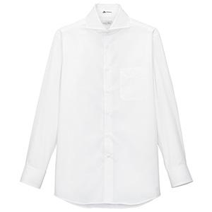 メンズ ホリゾンタル カラー 長袖シャツ FB5006M−15 ホワイト