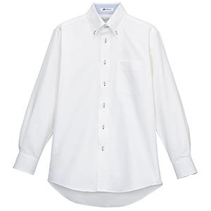 メンズ 長袖シャツ FB5010M−7 ホワイト (台衿裏:ブルー)