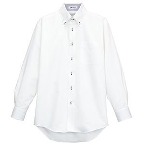 メンズ 長袖シャツ FB5010M−8 ホワイト (台衿裏:ネイビー)
