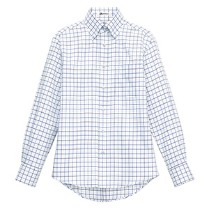 ユニセックス 長袖チェックシャツ FB4501U−7 ブルー