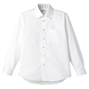 ユニセックス 長袖シャツ FB4502U−7 ホワイト×ブルー