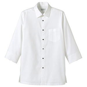 吸汗速乾 ハニカムモダン シャツ FB4512U−15 ホワイト