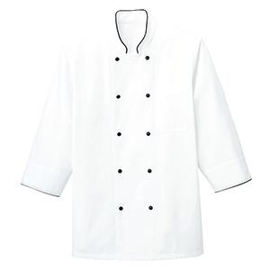 コックシャツ FB4513U−16 ホワイト×ブラック