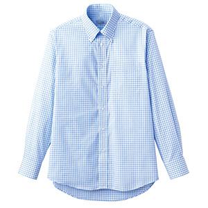 ユニセックス 長袖チェックシャツ FB4506U−7 ブルー
