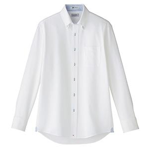 メンズ 吸水速乾 ニット 長袖シャツ FB5026M−7 台衿裏:ブルー