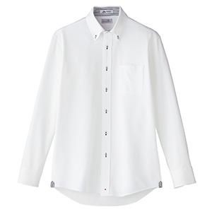 メンズ 吸水速乾 ニット 長袖シャツ FB5026M−8 台衿裏:ネイビー