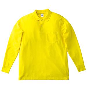 鹿の子ドライ長袖ポロシャツ MS3115−10 イエロー