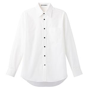 ブロードレギュラーカラー 長袖シャツ FB4526U−15 ホワイト