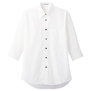 ブロードレギュラーカラー 七分袖シャツ FB4528U−15 ホワイト