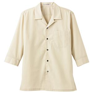 ブロードオープンカラー 七分袖シャツ FB4530U−1 ベージュ