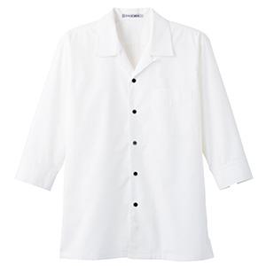 ブロードオープンカラー 七分袖シャツ FB4530U−15 ホワイト